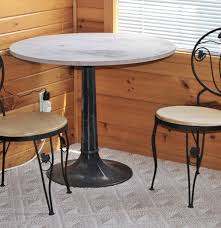 Iron Base Dining Table Cast Iron Base Ice Cream Parlor Table And Two Chairs Ebth