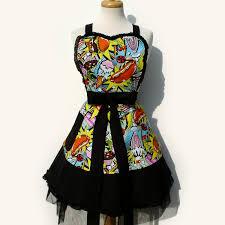 pop art vintage inspired diner apron