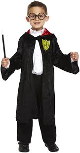 wizard costume child child u0027s harry potter style costume cloak u0026 glasses 7 12 years