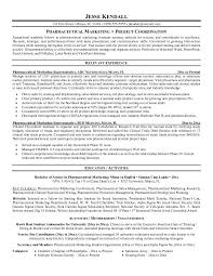 Marketing Resume Objective Sample by Resume For Pharmaceutical Sales 1715 Plgsa Org