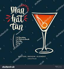 modern hand drawn lettering label alcohol stock vector 563930914