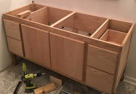 Build Bathroom Vanity How To Build A 60 Diy Bathroom Vanity From Scratch