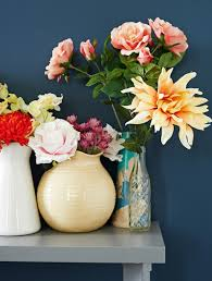Flowers In Vases Pictures Use Artificial Flowers To Make A Creative Statement In Your Home