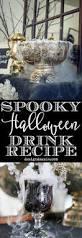 spooky halloween drink station