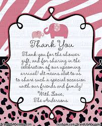 Thank You Cards For Baby Shower Gifts - 14 best baby shower thank you cards images on pinterest thank