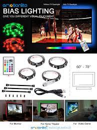 home theater backlighting amazon com bias lighting led tv backlight strip emotionlite usb