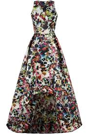 multi floral high low gown by ml monique lhuillier for 105 120