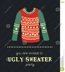 sweater invitation 3 stock vector image 78494538