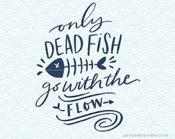 dead fish goes flow etsy