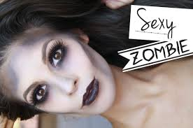 glamorous zombie makeup halloween tutorial 2014 youtube