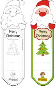 christmas bookmarks color coloring free printable teaching