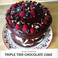 gluten free triple tier chocolate cake recipe u2014 gluten interrupted