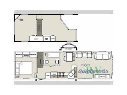 2017 forest river rv quailridge holiday cottages 40mlfd loft