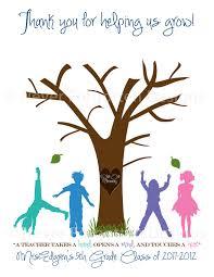 customized fingerprint tree for educators teachers great