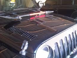 jeep cj hood installed gen right hood louvers on my black jk