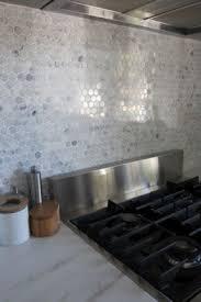 Hexagon Tile Backsplash Foter - Marble backsplashes for kitchens