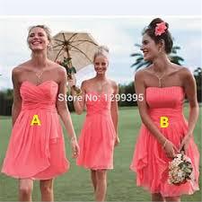 Light Pink Short Bridesmaid Dresses Online Shop Short Real Chiffon Short Coral Bridesmaid Dresses For