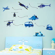 popular blue house decor buy cheap blue house decor lots from removable cartoon blue cars airplanes helicopters art decals vinyl wall stickers diy home decor for kids