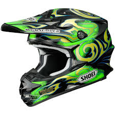 motocross helmets with visor shoei new 2016 vfx w taka higashino replica fmx black flo green