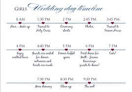 typical wedding program typical wedding reception order of events wedding day tim