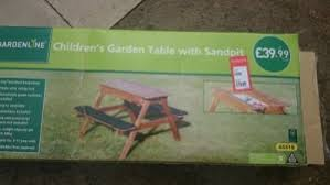 aldi childs bench and sand pit 19 99 reduced from 39 99 hotukdeals