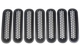 jeep front grill santu clipblack matte mesh front grill grille inserts cover kit