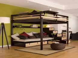 hochbett mit sofa drunter hochbett für erwachsene 30 ideen archzine net