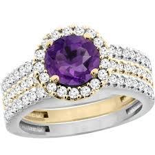 14k gold large diamond amethyst cwy901281 jpg