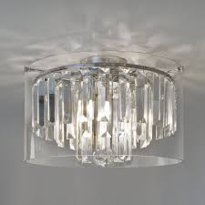 astro lighting 7169 asini ip44 bathroom crystal glass ceiling light