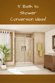 Bath To Shower Conversions How To Convert A Bathtub Into A Luxury Walk In Shower Great Diy