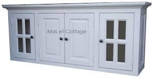 meuble haut cuisine bois element haut de cuisine 4 portes en pin