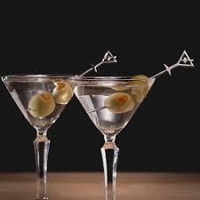 steel martini picks set of 6