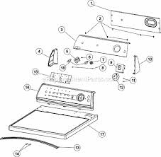 amana nde2335ayw parts list and diagram ereplacementparts com