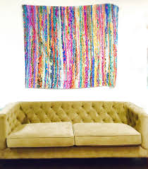 decorating colorful striped tapestry wall hangings with elegant