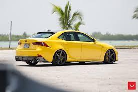 lexus vossen lfa yellow lexus is 350 sits on vossen wheels autoevolution
