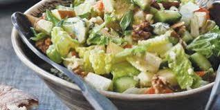 crispy chicken salad with buttermilk blue cheese dressing recipe
