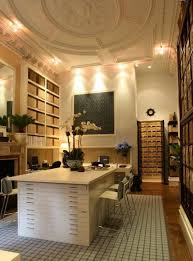 latest office designs for home with large table with drawers and
