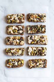 Oatmeal Bars With Chocolate Topping Oat Bars With Pistachios Almonds Chocolate Chips U0026 Caramel Topping
