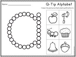 q tip painting letters worksheets alphabet practice by learning desk