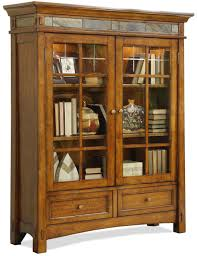 antique white bookcase with glass doors riverside furniture