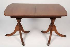 Double Pedestal Dining Table Duncan Phyfe Style Mahogany Dining Table For Sale At 1stdibs