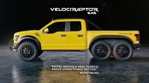 Yellow Ford Ranger Truck - velociraptor 6x6 hennessey performance