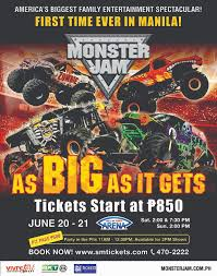 monster truck show ticket prices monster jam holds first monster truck show in the philippines