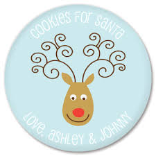 cookies for santa plate personalized cookies for santa plate reindeer abraham