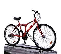 porta bici da auto 54491 supporto portabici per auto da tetto in alluminio per 1 bici