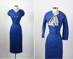 1950s vintage parnes feinstein hourglass cocktail party dress