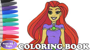 dc super hero girls starfire coloring book pages dc superhero