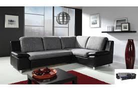 canapé d angle noir et gris canapé d angle convertible renato tissu et cuir pu canapés d