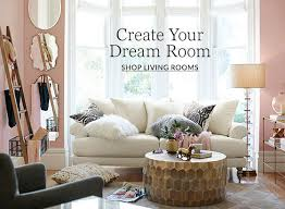 living room table in living living room design ideas inspiration pottery barn