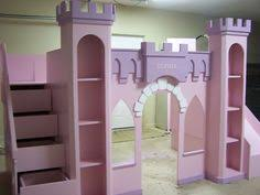 Princess Bunk Bed With Slide Make Your Own Castle Loft Bed With A Slide I Need To Do This For